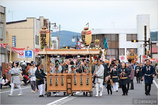 [速報]2018年久慈秋まつり〜お通り【全山車組紹介】