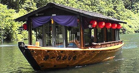 滝ダム湖遊覧船就航