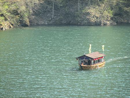 滝ダム遊覧船就航