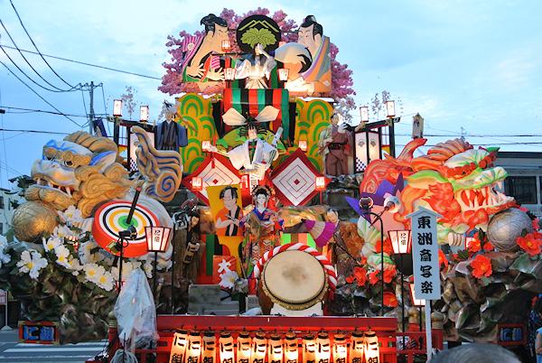 [速報]2012年久慈秋まつり〜8台の全山車組紹介