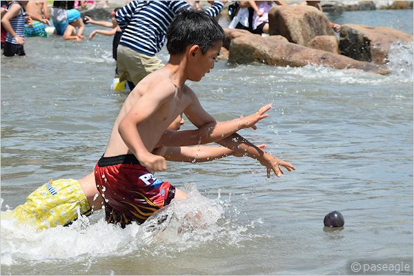 侍浜海水プールオープン!