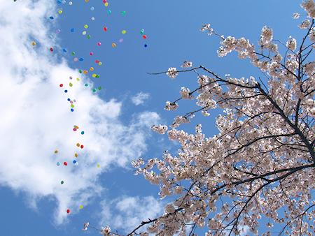 復興への願いを空へ!バルーンリリース